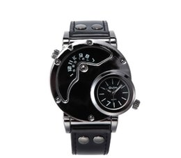 $enCountryForm.capitalKeyWord Canada - Fashion trend brand OULM men's watch factory direct two time ultra-cool hand watch sports watch 9591