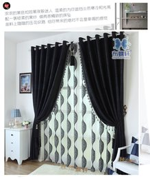 Thick Black And White Chenille Curtains Upscale Modern Bedroom Living Room Curtain Fabric