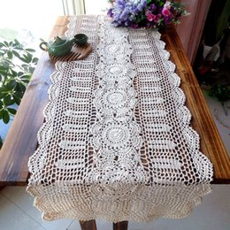 2015 New Arrival ZAKKA Cotton Crochet Lace Table Runner For Home Decor With  Flowers Table Cover As Household Item Runner Mat