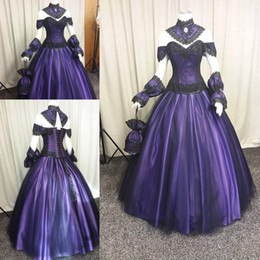 Shop Purple Vintage Gothic Wedding Dresses UK | Purple Vintage ...