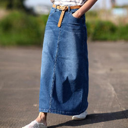 Plus Size Long Denim Pencil Skirt Suppliers | Best Plus Size Long ...