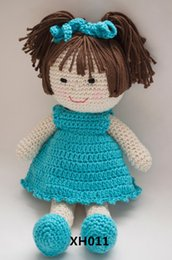Woolen Toys Canada - Cartoon Cute Doll DIY crochet toys and dolls in handmake Weaving Cotton Marcy Doll Children's giftscustomize