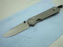 Discount no.1 sun - Chris Reeve CR-high-end titanium handle small folding knife 1 (sun pattern) Camping Hunting Pocket Knife Xmas gift knife