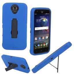 Chinese Zte Phones Canada - 2016 New Free Shipping Heavy Duty For ZTE N817 Cell Phone Case Silicone+PC Anti-skidding and Anti-knock With Kickstand 2 in 1 case