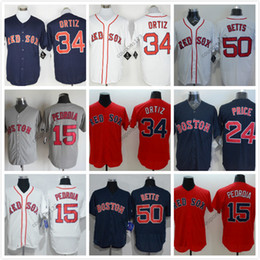 a585fa0f5 ... Authentic Collection Stitched MLB Jersey 2016 Flexbase MLB Stitched boston  red sox 24 Davie Price 34 David Ortiz White Red Blue ...