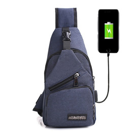 Single Shoulder Strap Packs Australia - USB Charging Men Chest Pack Single Shoulder Strap Back Bag Crossbody Bags for Women Sling Shoulder Bag Back Pack Travel