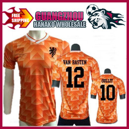 b5a042b7d6a 2017 classic football jerseys 1988 Retro Version Orange Classic Vintage  Netherlands home Soccer jersey best quality