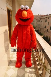 Christmas Cartoon Movies Free Canada - Professional Cartoon New Halloween Sesame Street red ELMO Mascot Costumes adult size FREE SHIPPING