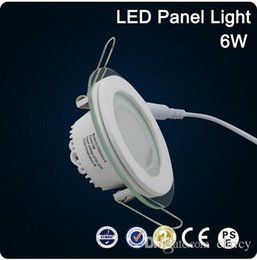 Super Gright LED Glass Round 6W Panel Recessed Wall Ceiling Downlight  AC85 265V SMD5730 LED Recessed Ceiling Light Fixtures Glass Bathroom Light  Fixture ...