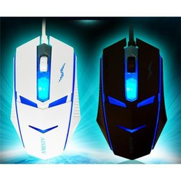 gaming computers 2019 - Wired Optical USB Wired Gaming Game Mouse Adjustable 2400DPI 3 Buttons Mouse with LED for PC Laptop  Computer cheap gami