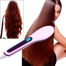 $enCountryForm.capitalKeyWord Canada - Professional Hair Straighteners Brush Iron Beauty Star Hair Styling Tool comb Flat Iron With LCD Electronic Brush with EU plug US plug