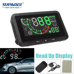 Fuel Consumption Display NZ - Wholesale-Free Shipping Multi Car HUD Vehicle-mounted Head Up Display System Fuel Consumption Overspeed Warning Diagnostic Tool