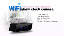 HD 720P Wifi Clock Mini IP Camera Live View 160° Clock DVR P2P Motion Activated Video Recorder Security Camcorder for Android IOS APP on Sale