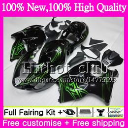 gsxr fairing red white 2018 - Body Green black For SUZUKI Hayabusa GSXR1300 96 07 GSXR-1300 41HT05 GSX R1300 2002 2003 2004 GSXR 1300 2005 2006 2007 M