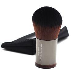 Flawless Brush UK - Makeup Artist Wood Handle Soft Compact Dense Synthetic Hair Dome Shaped 124 Flexibility Flawless Powder Kabuki Brushes
