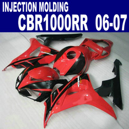 Full Set Fairings NZ - Injection molding ABS full fairing kit for HONDA 2006 2007 CBR1000RR 06 07 bodywork CBR 1000 RR red black fairings set AQ56