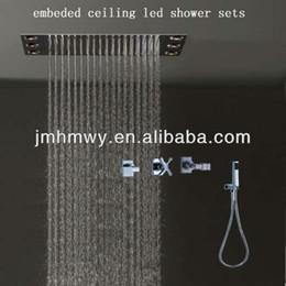 Recessed Rain Shower Head. 50 36cm recessed multi color rain head shower led 160305  heads promotion Discount Recessed Shower Heads 2018 Rain