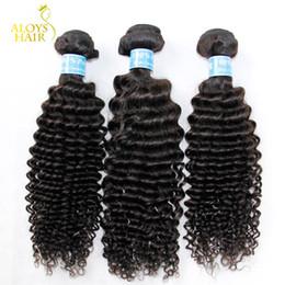 Best Curly Human Hair Extensions Canada - 3PCS Lot 8-30Inch Grade 7A Peruvian Curly Virgin Hair Human Hair Weave Bundles Best Unprocessed Virgin Peruvian Kinky Curly Hair Extensions