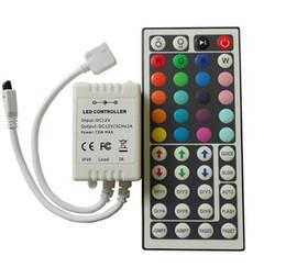 Remote contRol 12v batteRy online shopping - Led Strips RGB Controllers LED key Remote Control Key IR Remote Control Receiver Controller DC V For RGB LED Strip Light