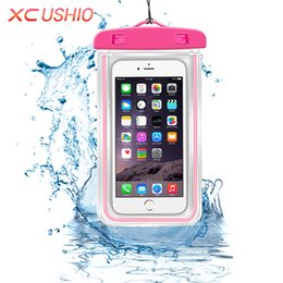 Discount travel pouches for clothes - Wholesale- Universal Waterproof Phone Case Pouch Outdoor Travel Waterproof Storage Bag for iPhone 6 6s P 5 5S Samsung S3
