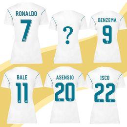 8100f14839d ... Benzema Ronaldo Football Modric Kroos Sergio Real Madrid Women 11 BALE  Short Sleeves Football Jersey 2017 2018 Top Thailand Quality Soccer Jerseys  ...