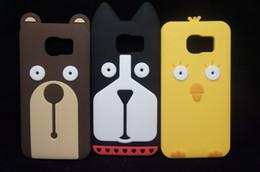 $enCountryForm.capitalKeyWord Canada - For Samsung Galaxy S6 G9200 soft silicone Case 3D Cartoon Korean-style Round eyes Animal Dog Bear Chicken Cover silicon Case Free Shipping