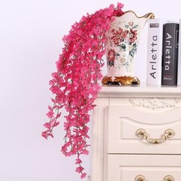 Shop fuchsia plants uk fuchsia plants free delivery to uk dhgate uk 2016 hot sale artificial fuchsia cherry blossom flower vine plant home decorative silk flowers for wedding birthday party decoration mightylinksfo