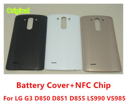 $enCountryForm.capitalKeyWord NZ - New Original Battery Cover For LG G3 D850 D851 D855 LS990 VS985 Back Cover Housing Door Case With NFC Chip
