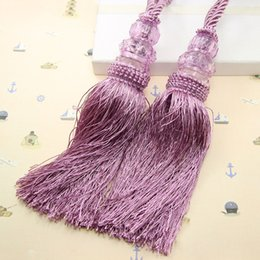 Europe Style New Arrival Curtain Tassels Hang Ball Small Crystal Double Ball Rural Curtain Tieback 1Pair