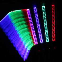 Discount glow sticks club - 5 Colors Fluorescence LED Light Sticks Concert Night Club Color Glowing Sticks Cheering Props Festival Gift 20pcs lot SD