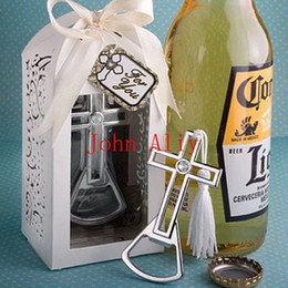 $enCountryForm.capitalKeyWord Canada - Cross Bottle Opener Wedding Favors And Gifts Wedding Gifts For Guests Wedding Souvenirs Event & Party Supplies