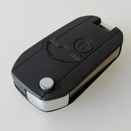$enCountryForm.capitalKeyWord Canada - Hottest car modified key blank for BMW mini 2 button flip foding remote key shell FOB case 10pcs lot free shipping