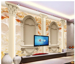 $enCountryForm.capitalKeyWord Canada - 3d wallpaper TV background wallpaper the living room sofa backdrop mural Marble pillars mural wallpaper 201515027