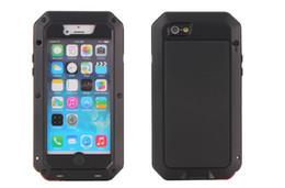 Venta al por mayor de De lujo a prueba de golpes a prueba de agua de gran alcance de protección de aluminio cubierta de metal de cristal gorila cajas del teléfono celular para iphone x 4 5 6 6 s 7 8 plus