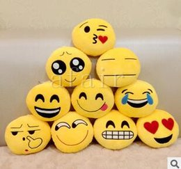 Video games for small kids online shopping - 5cm cm QQ Expression Emoji Smiley Small pendant Key Chains Emotion Yellow Stuffed Plush doll toy Mobile bag pendants for Christmas gifts