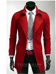 Dark Red Mens Trench Coat Online   Dark Red Mens Trench Coat for Sale