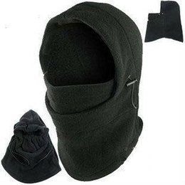 ingrosso cappuccio-Hot Winter Outdoor Thermal Warm in Cappuccio Balaclava Police Swat Sci Cappellino Fleece Ski Bike Sciarpa Wind Stopper Ski Mask Cappelli