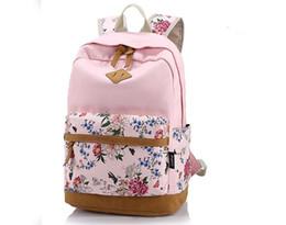 cec6388fdcd4 2015 New brand designer Rose printing women canvas backpack fashion vintage large  capacity women shoulder rucksack travel bag