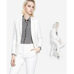 white piece coat pant NZ - Women suit fashion temperament noble quality two-piece white-collar clothing woman suit 2 (coat + pants) custom made