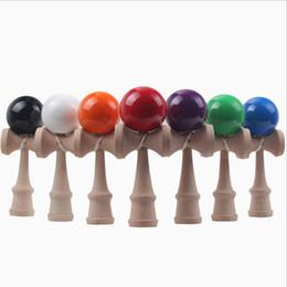 China 12.5 cm mini Kendama PU Ball Paint Japanese traditional game Kendama Educational Toys suppliers