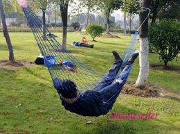 $enCountryForm.capitalKeyWord NZ - Free Shipping 50 pcs lot Summer Lightweight Nylon meshy hammock light and portable Single Max Load 100KG 270*80 Cm Mix Color
