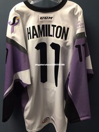 03aa25c3ccb Cheap custom 2017-18 Stockton Heat Hockey Fights Cancer  11 Freddie  Hamilton Jerseys stitched Men s hockey jersey