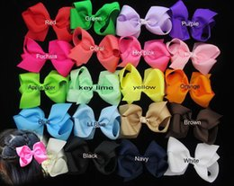 Ribbons For Hair Canada - 100PCS  6 inch big ribbon bows boutique hair bows baby hair headband baby girls hair accessories for baby headband princess hair band