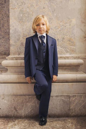 $enCountryForm.capitalKeyWord NZ - 2015 New Hot Sale Custom Made Kids' Tuxedos Navy Boys' Suit Wedding Party Boys' Formal Occasion Suit Formal Attire-004