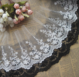 Net flower lace trimming cotton mesh lace trim skirt DIY accessories embroidered  lace trim 15cm wide 7 yards Lot
