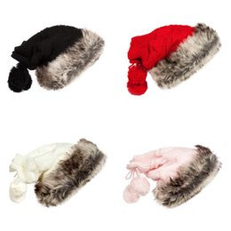 Free knitted hats For girls online shopping - Plush Knitted Beanies Windproof Lovely Fashion Keep Warm Cap Winter Lady Hat Popular For Multi Color lz C