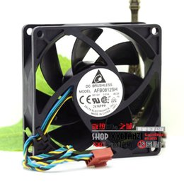 Discount double fan 12v - Brand new Delta DELTA AFB0812SH 8025 12V 0.51A air volume PWM double ball bearing fan