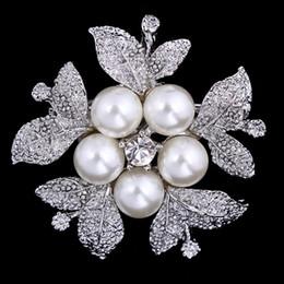 Flower Brooch Clip Canada - Fashion Vintage Brooch Gift Rhinestone Flower For Wedding Bridal Dresses Hijab Clip Scarf Buckle Brooches Pins