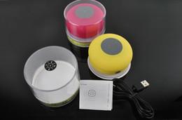 Iphone speaker sucker online shopping - Bluetooth Waterproof Speaker Shower Wireless Speakers BTS Handfree Sucker for iPhone S S Samsung S4 Smartphone with Retail Box US04