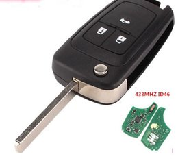 Chinese  qsuperekey 3 Button 433Mhz 46 Electric transponder chip flip unkeyless remote key For Chevrolet KEY free shipping manufacturers
